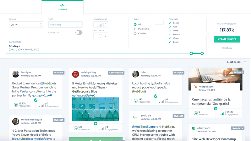 Brand Tracking Feed